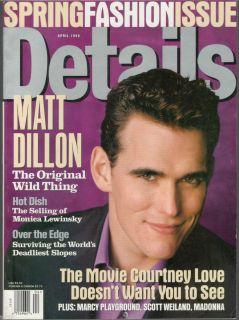 1998 Details Magazine Selling of Monica Lewinsky Matt Dillon