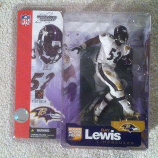 Mcfarlane NFL Series 5 Ray Lewis Baltimore Ravens White Uniform RARE
