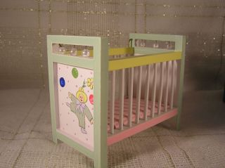 Dollhouse 1 12 Scale Crib Baby Bed