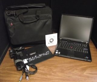 One Lenovo ThinkPad R60 1 83 Core Duo Windows 7 Home Wireless Laptop