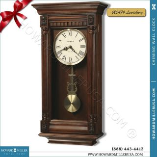 Miller Contemporary Cherry Finish Wood Wall Clock Lewisburg