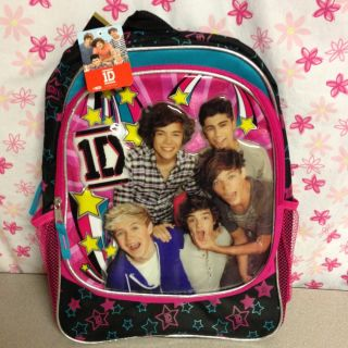 Direction 1D School Backpack Harry Louis Zayn Liam Niall USA