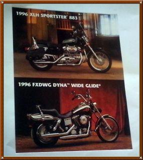 Vintage Sales Flyer for 1996 HARLEY DAVIDSON Sportster/Dyna w/ stats