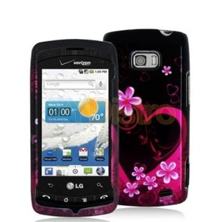 Purple Love Hard New Skin Case Cover for LG Ally VS740
