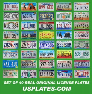 USA UNITED STATES LICENSE PLATES NUMBER TAG BEST LOT NICE PLATES L@@K