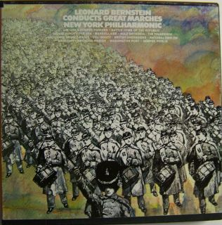 Leonard Bernstein Conducts Great Marches Nyp Reel to Reel Tape 7 1 2