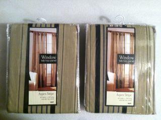 Lichtenberg Co Aspen Stripe Tab Top Window Treatment Curtains Panel