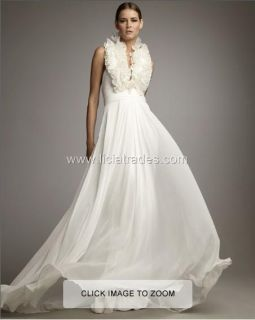 Notte Marchesa 2011 Chiffon Gown Wedding 8 Dress $1 155 White