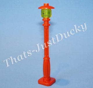 Lego minifig RED Lamp Post STREET LIGHT Mini Fig MiniFigure Lego