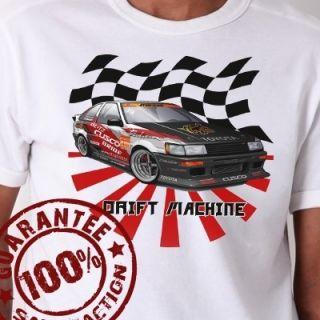 JDM Toyota Levin AE86 Drifting Machine T Shirt 595