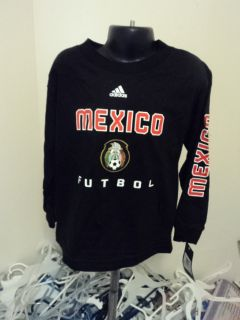 Adidas Mexico Futbol Football Soccer Little Kids Long Sleeve Shirt M 5