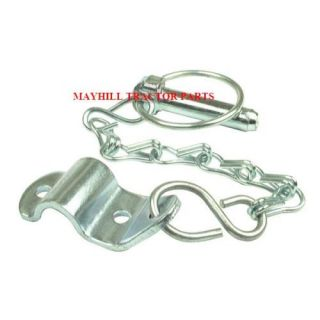 Massey Ferguson Lynch Pin Chain Bracket Assembly