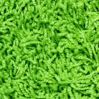 Small Solid Hot Lime Green Shag Accent Area Rug 2x4