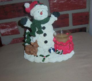 Lincolnshire Christmas Snowman Votive Candle Holder