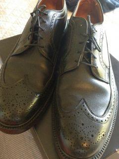 Vintage Mens Aristocraft Shoes Johnston Murphy Black WingTip