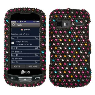 For LG Rumor Reflex Crystal Diamond BLING Hard Case Phone Cover