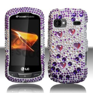 For at T LG Xpression Crystal Diamond Bling Hard Case Phone Cover