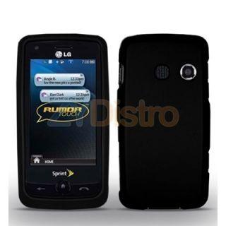 Black Hard Case Cover for LG Rumor Touch LN510 Phone