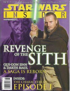 Star Wars Insider Magazine Qui Gon Jinn Liam Neeson