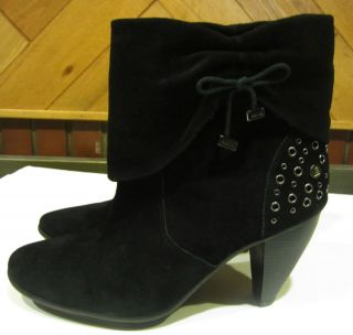 Libby Edelman Black Leather Ankle Boots Womens Shoe Size 10 M