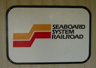 Seaboard System Railroad Metal Sign