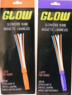 New Multi Colored Glow Stick Wands Lasts for Hours 2 Pack