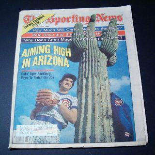 MLB Aiming High in Arizona Ryne Sandberg March 4 1985 Sporting News