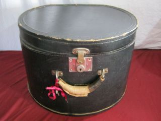Antique Vintage Leather Lieberman Hat Travel Hat Box Suitcase