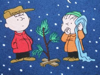 Brown Christmas Time Peanuts Lucy Linus Quilting Treasures Fabric Yard