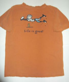 Life Is Good Baseball Youth XL 18 20 T Shirt Burnt Orange