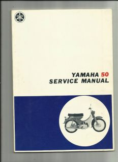 Yamaha 50 Motorcycle Service Manual Original Vintage Moped