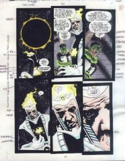 Green Lantern 80 DC Comics DCU Color Guide Art Page 11 Dr Light