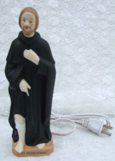 Catholic Statue or Night Light St Peregrine Cancer