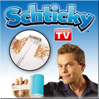 SCHTICKY 3 Piece Reusable Lint Roller Set Clean in a Quicky As Seen On