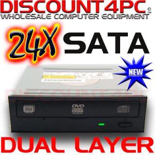 Black Liteon Internal SATA Dual Layer DL DVD RW IHAS124