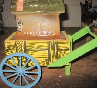 Vintage Jim Beam Ernies Liquors San Francisco Flower Cart Excellent