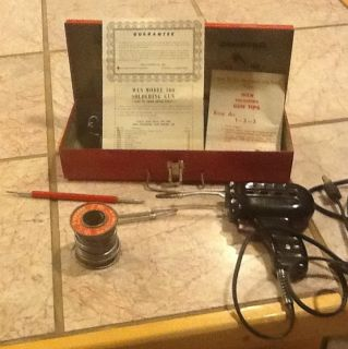 Vintage Wen Model 100 120V Electric Soldering Gun w Light