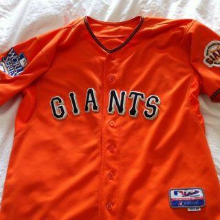 Giants Orange Friday Jersey Tim Lincecum 55 World Series Patch