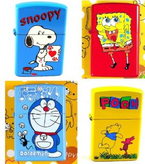 Spongebob etc Flip Top Lighter 1 Package Zippo 3 Flints