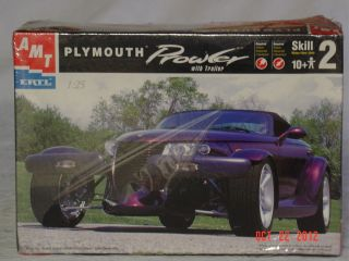 New AMT ERTL Plymouth Prowler With Trailer Model Kit Ages 10 Skill 2 1