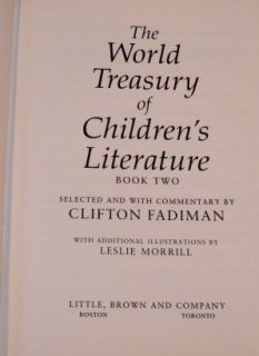 The World Treasury of Childrens Literature Book Two Clifton Fadiman