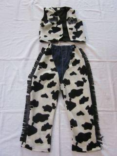 Little Adventures Cowboy Cowgirl Halloween Costume Cow Print Vest