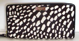 NEW NWT Kate Spade Lindenwood Safari Zip Around Neda Wallet Coin Purse