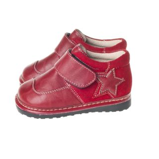 Little Blue Lamb Red Leather Shoes Baby Toddler Boy from Sz 3 to 7 New