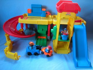 Fisher Price Little People Ramps Garage Car Wash Sounds Elevator New