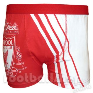 Liverpool Mens Crest Boxer Shorts Red