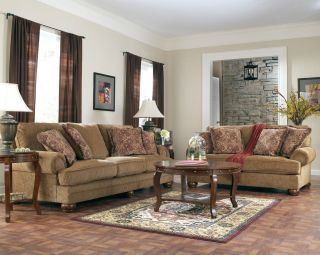 Ashley Furniture Montgomery Mocha Living Room Sofa Set