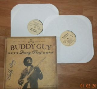 Buddy Guy Living Proof 74 Years Young Signed Album Proof 1