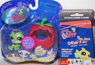 EDITION Littlest Pet Shop 829 CATERPILLAR WORM GO FISH card game