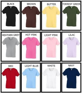 12 Color Womens Ladies Plain Basic Crew Neck Tshirt Top s L XL Plus